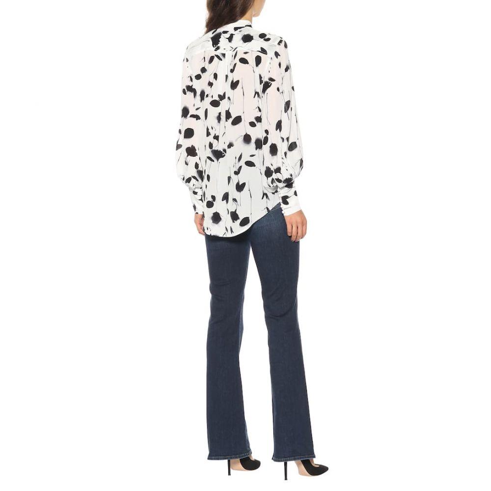エキプモン Equipment レディース トップス ブラウス・シャツ【Boleyn printed silk shirt】bright white