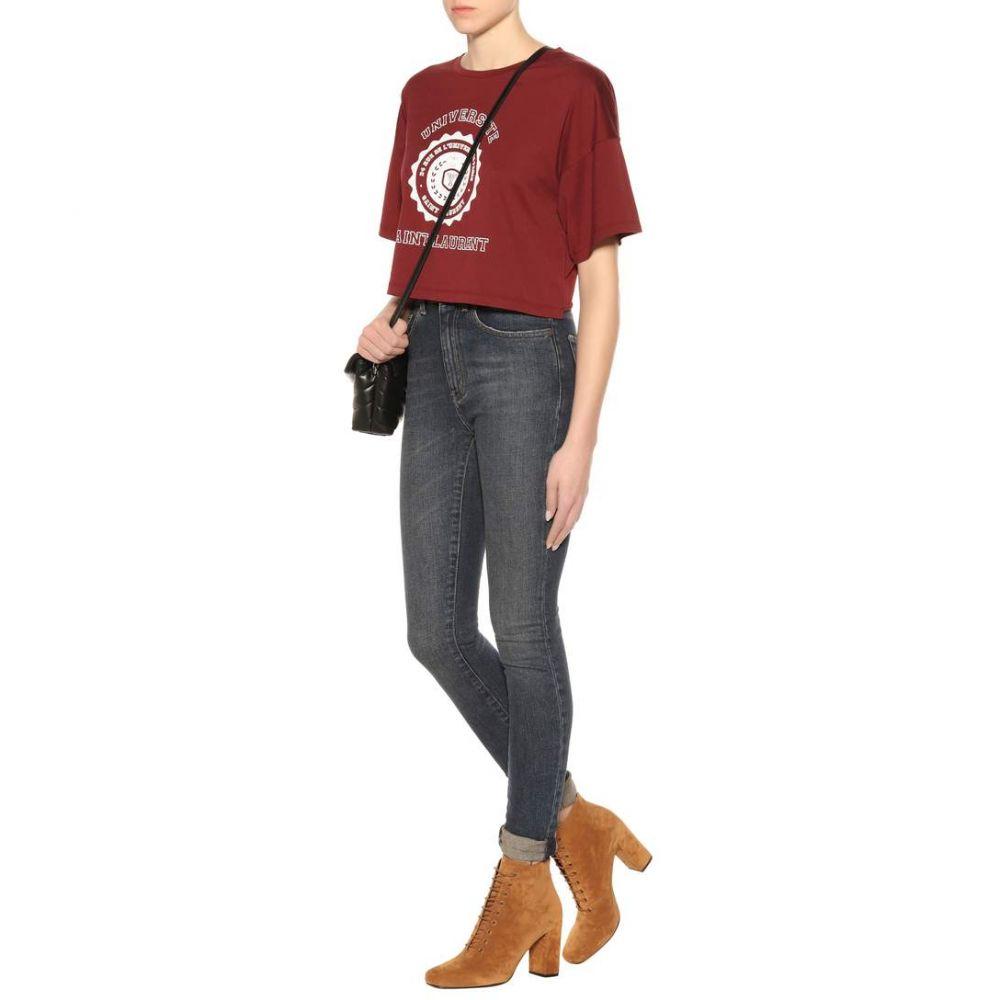 イヴ サンローラン Saint Laurent レディース トップス ベアトップ・チューブトップ・クロップド【Printed cropped cotton T-shirt】