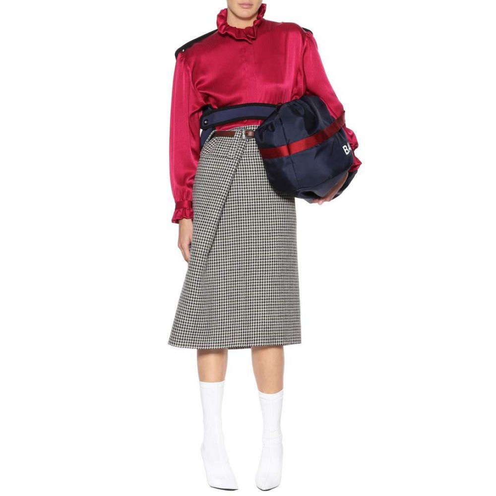 バレンシアガ Balenciaga レディース トップス ブラウス・シャツ【Silk blouse with detachable panel】Cerise