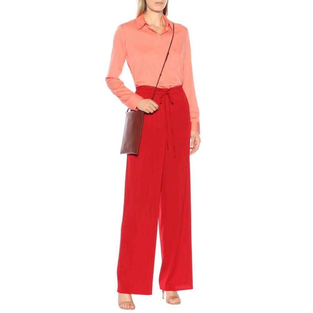 ザ ロウ The Row レディース トップス ブラウス・シャツ【Stretch-silk blouse】Flamingo