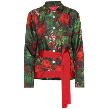 フォーレストレススリーパーズ F.R.S For Restless Sleepers レディース トップス ブラウス・シャツ【Agon printed silk shirt】f.do nero