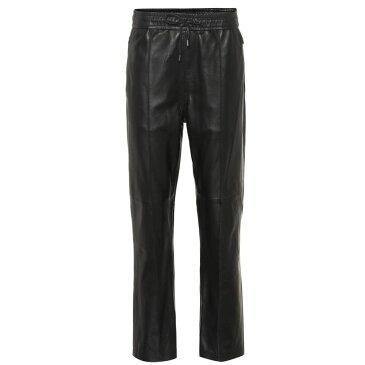 イザベル マラン Isabel Marant レディース ボトムス・パンツ スウェット・ジャージ【Coya leather trackpants】Black