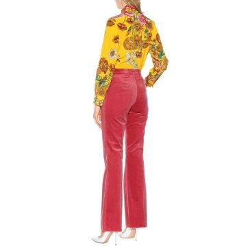 エトロ Etro レディース ボトムス・パンツ スキニー・スリム【Corduroy flared pants】Vintage Pink