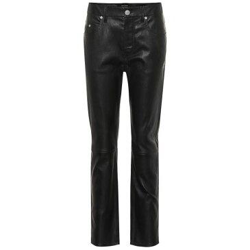 イザベル マラン Isabel Marant レディース ボトムス・パンツ【Minlow straight-leg leather pants】black