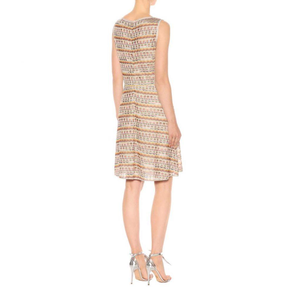 ミッソーニ Missoni レディース ワンピース・ドレス ワンピース【Striped stretch-silk minidress】Multicolor