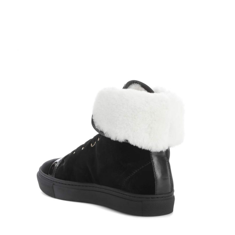 ランバン Lanvin レディース シューズ・靴 スニーカー【Velvet high-top sneakers】Black White