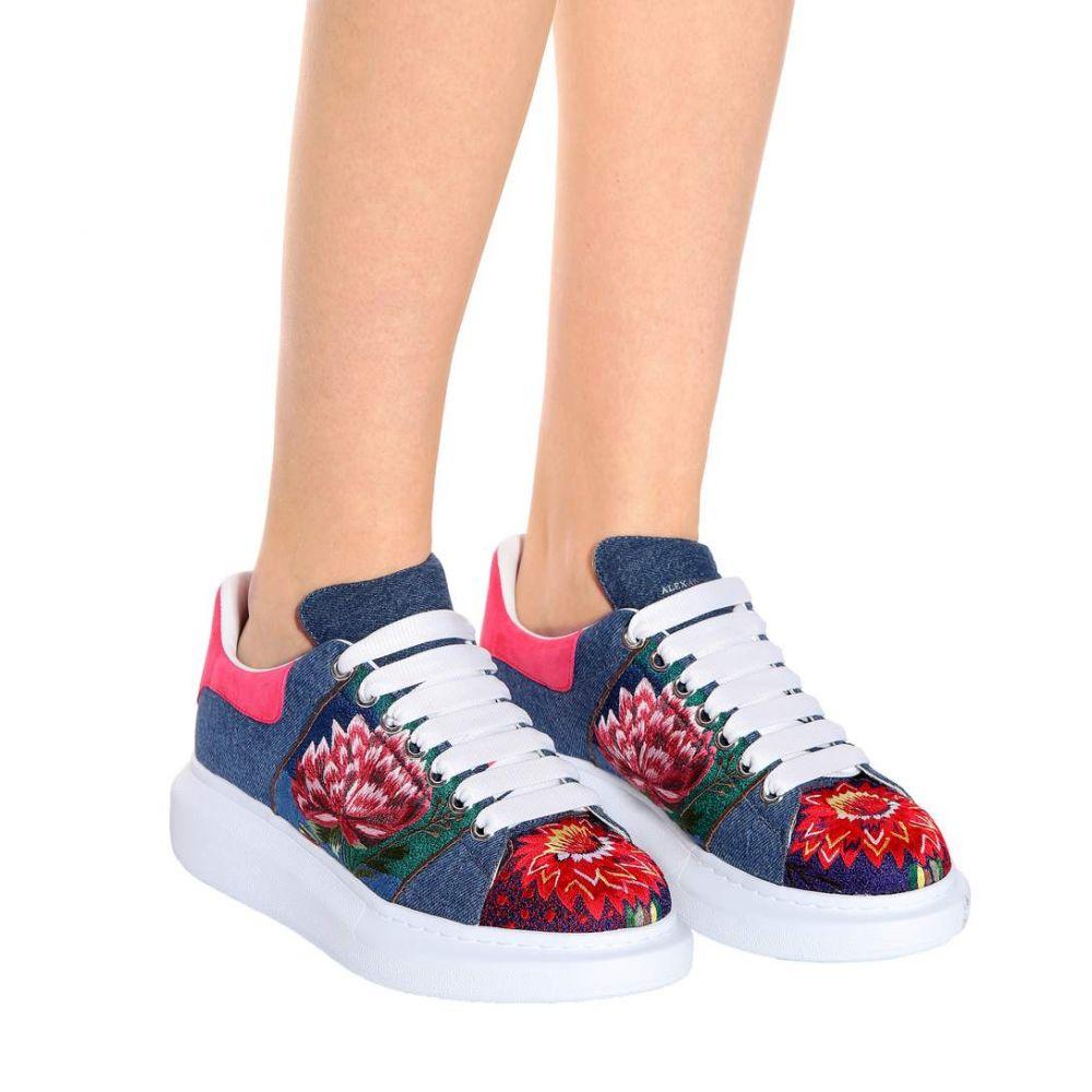 アレキサンダー マックイーン Alexander McQueen レディース シューズ・靴 スニーカー【Embroidered platform sneakers】Denim/Mulicolor