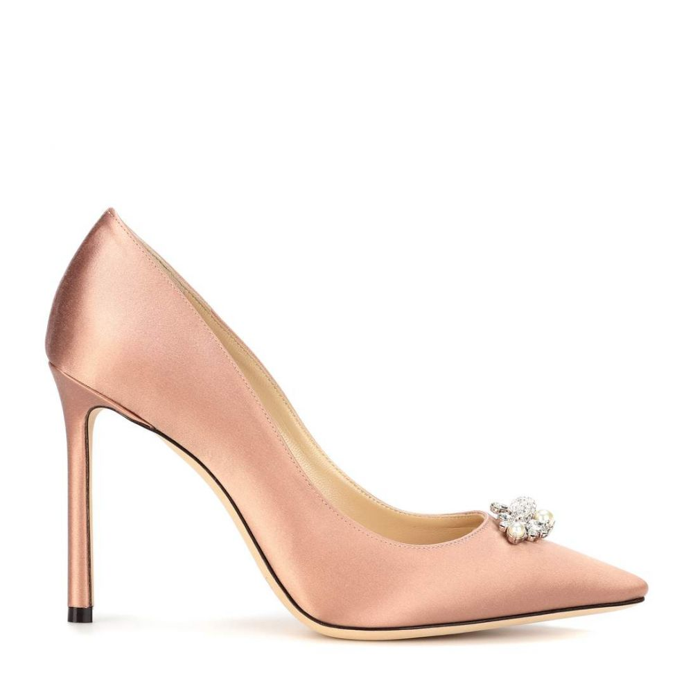 ジミー チュウ Jimmy Choo レディース シューズ・靴 パンプス【Alexa 100 embellished satin pumps】Ballet Pink/Crystal
