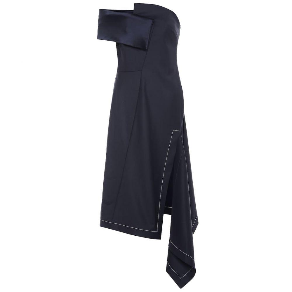 モンス Monse レディース ワンピース・ドレス ワンピース【Asymmetric stretch wool midi dress】Navy