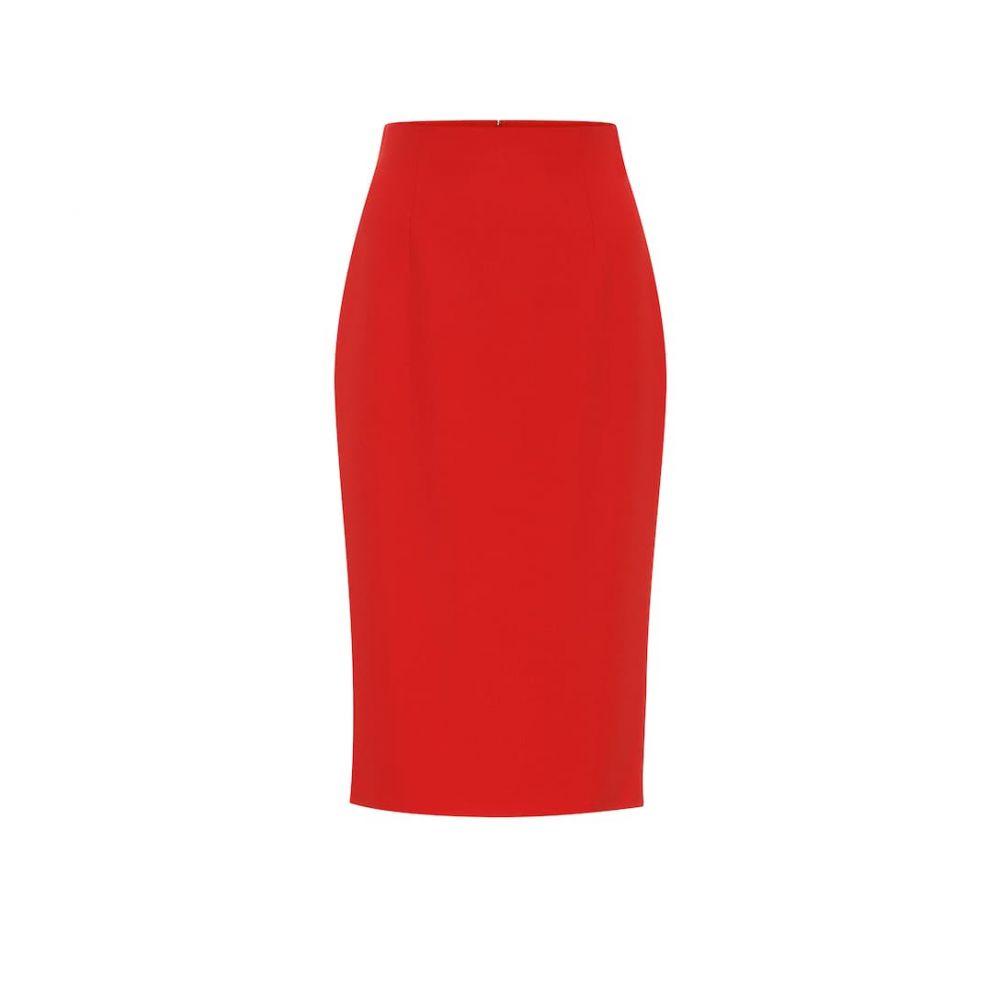 アレキサンダー マックイーン Alexander McQueen レディース スカート ひざ丈スカート【Crepe pencil skirt】Lust Red