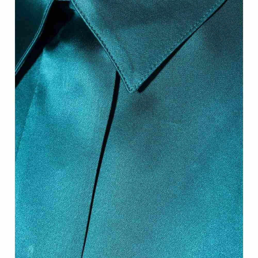 ハイダー アッカーマン Haider Ackermann レディース トップス ブラウス・シャツ【Silk-satin shirt】Lagoon