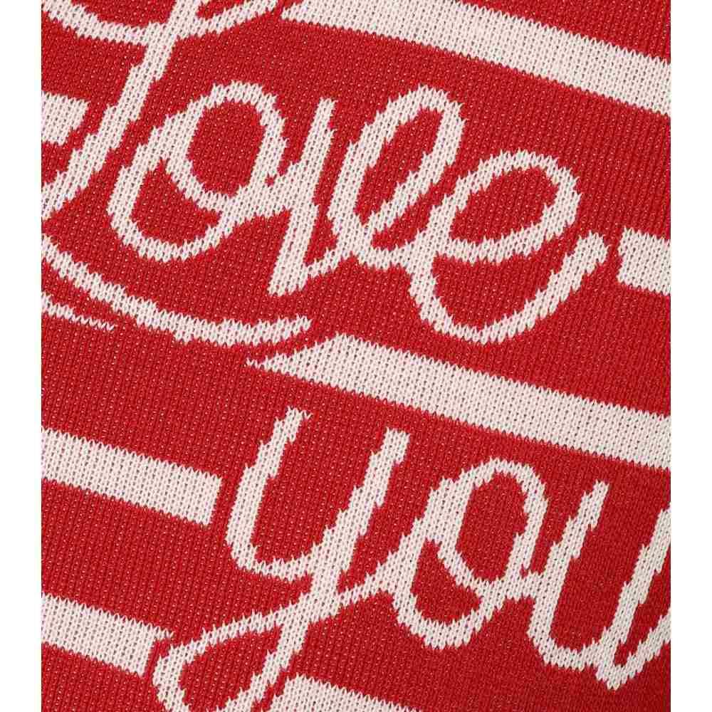 レッド ヴァレンティノ REDValentino レディース トップス ニット・セーター【Striped cotton intarsia sweater】Deep Red/Latte