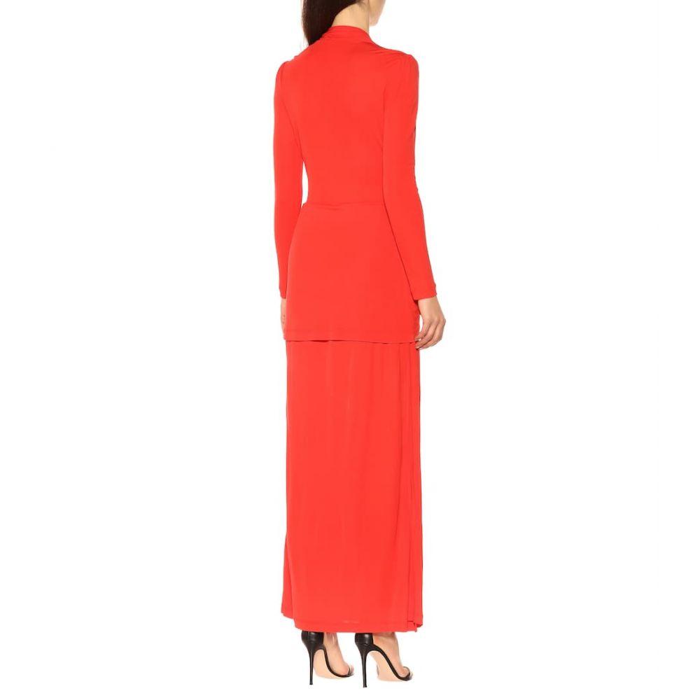 ダイアン フォン ファステンバーグ Diane von Furstenberg レディース ワンピース・ドレス ワンピース【Stacia crepe maxi dress】Candy Red