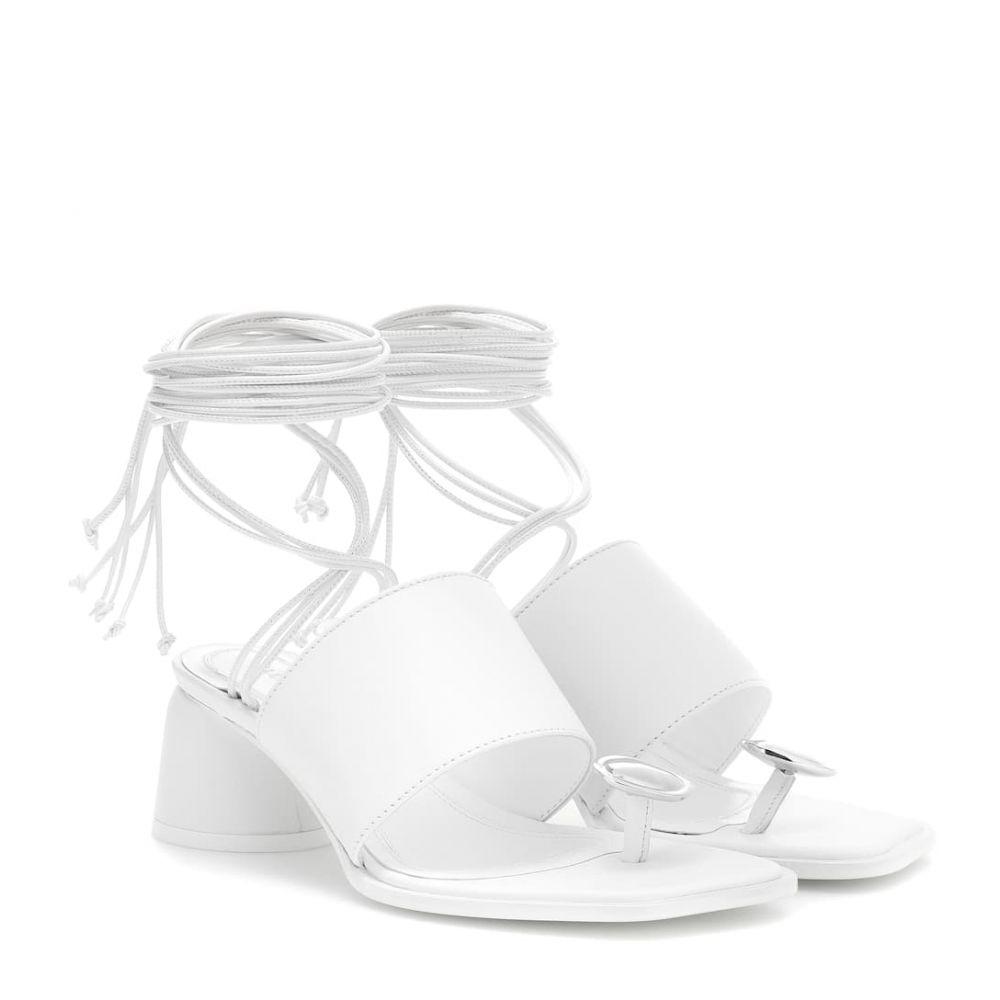 エラリー Ellery レディース シューズ・靴 サンダル・ミュール【Embellished leather sandals】white