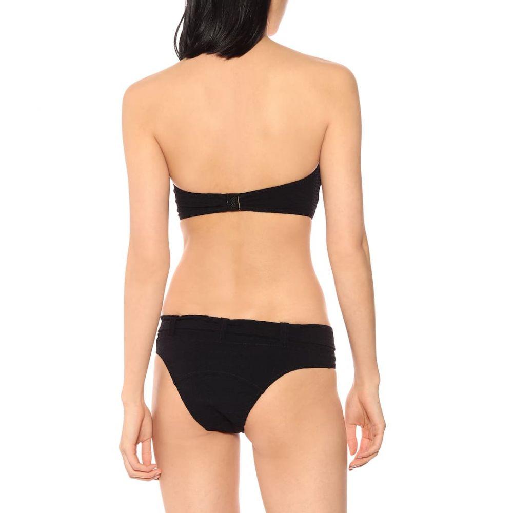 リサ マリー フェルナンデス Lisa Marie Fernandez レディース 水着・ビーチウェア 上下セット【Buckle bandeau bikini】Black Seersucker