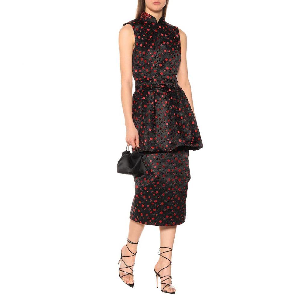 シモーネ ロシャ Simone Rocha レディース ワンピース・ドレス パーティードレス【Jacquard midi dress】Black/Red