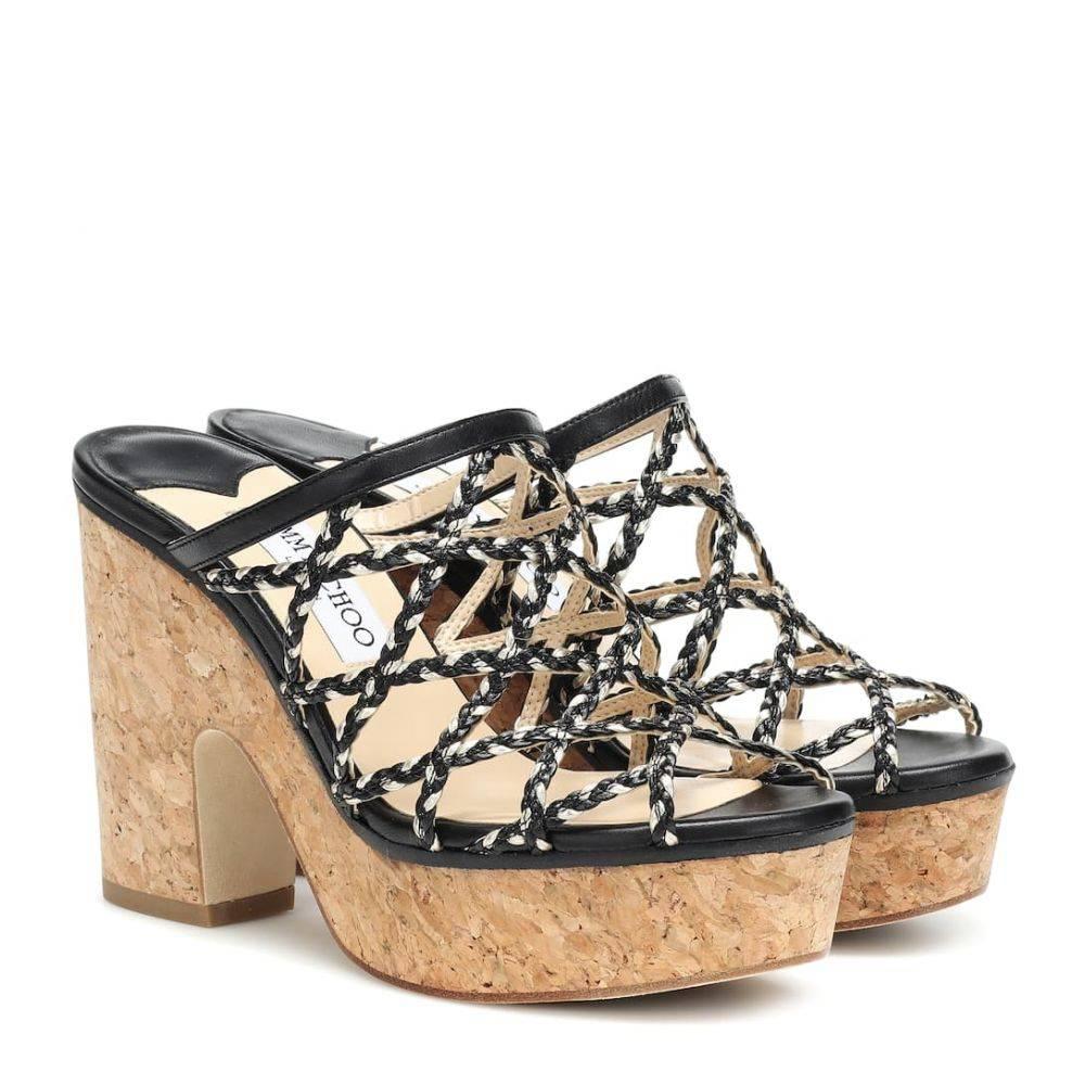 ジミー チュウ Jimmy Choo レディース シューズ・靴 サンダル・ミュール【Dalina 100 plateau sandals】Black Gold