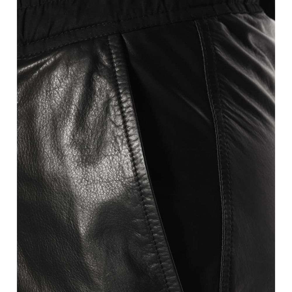 リック オウエンス Rick Owens レディース ボトムス・パンツ クロップド【Cropped leather pants】Black