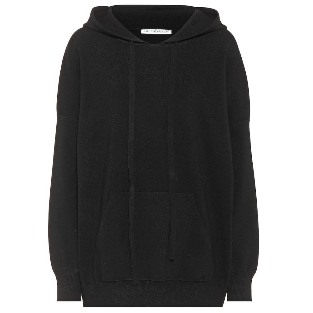 ライブ ザ プロセス Live The Process レディース トップス パーカー【Stretch jersey hoodie】Black
