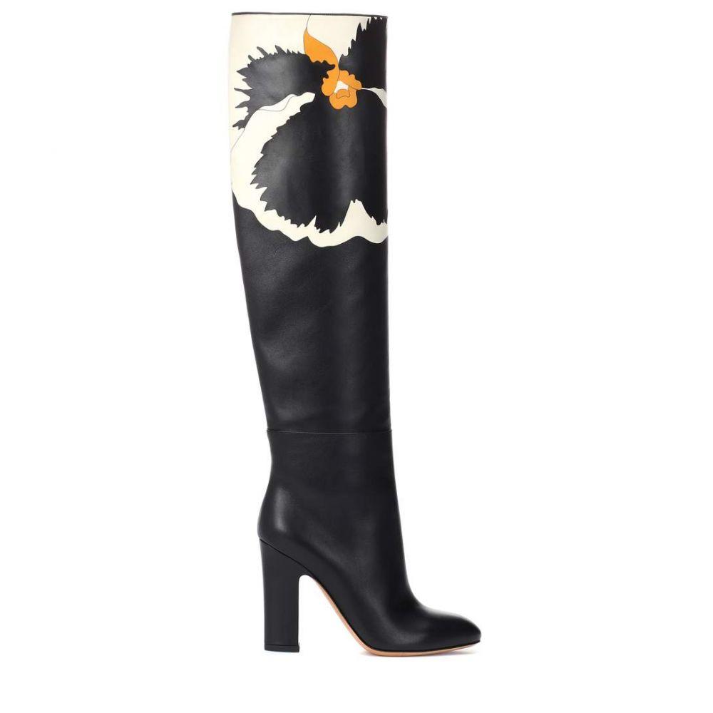 ヴァレンティノ Valentino レディース シューズ・靴 ブーツ【Garavani Bloomy leather boots】Black