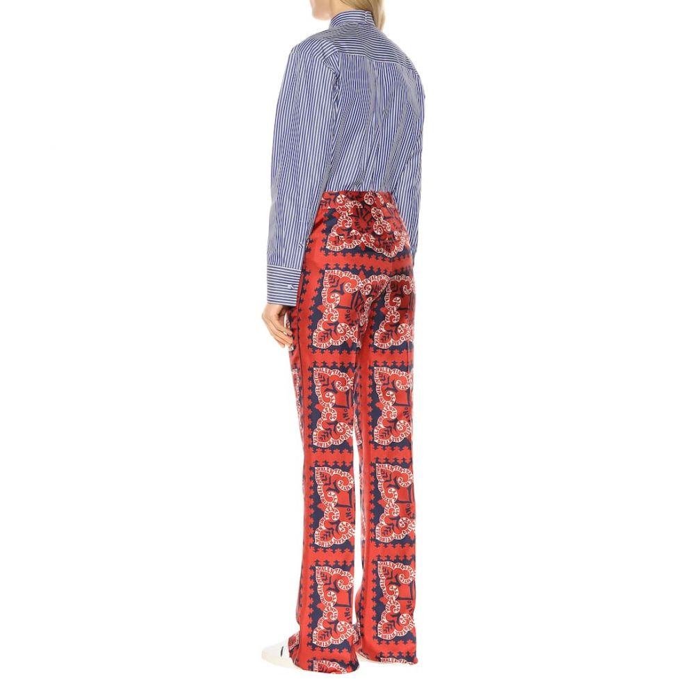 ヴァレンティノ Valentino レディース ボトムス・パンツ【Mini Bandana silk twill pants】