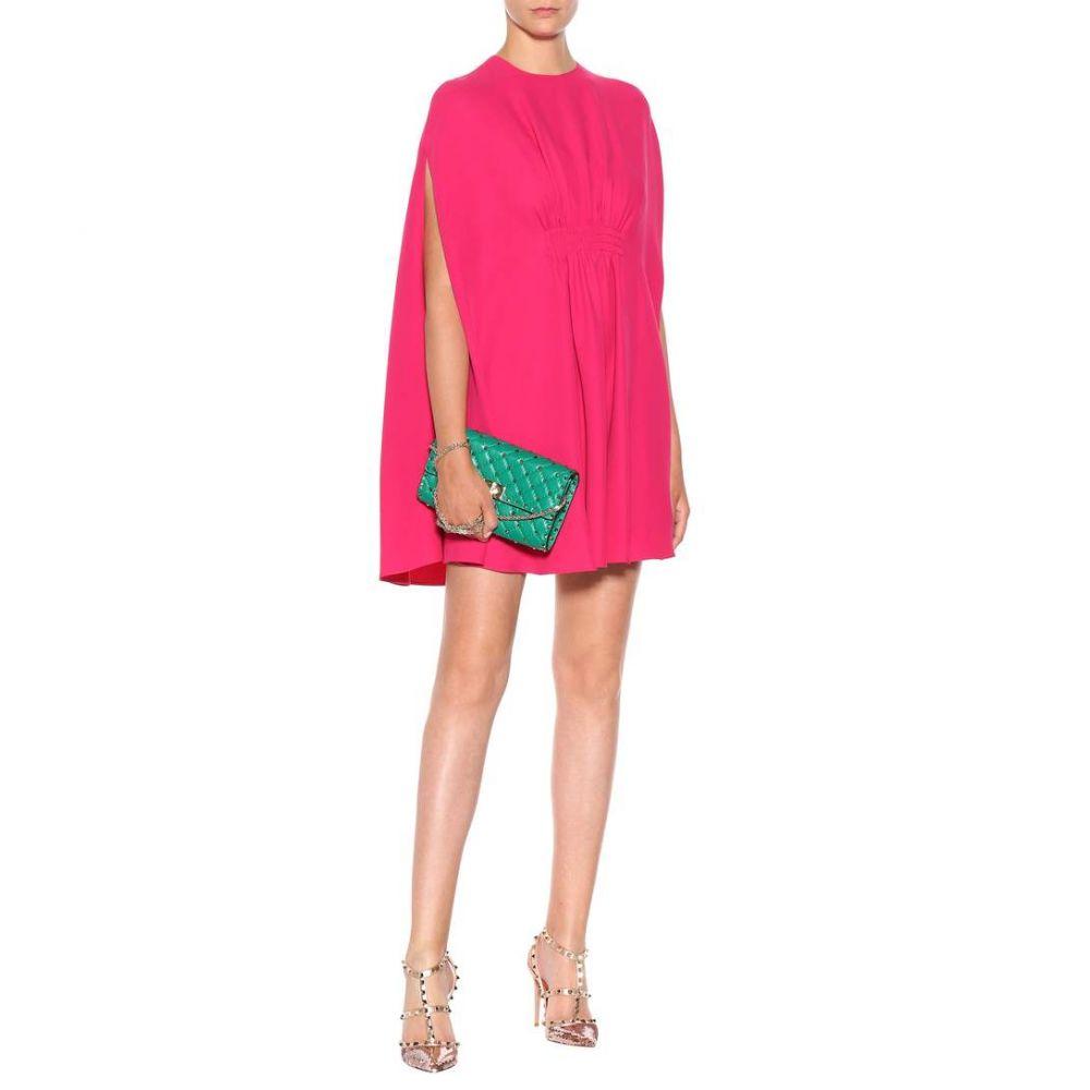 ヴァレンティノ Valentino レディース ワンピース・ドレス ワンピース【Silk minidress】Shadow Pink
