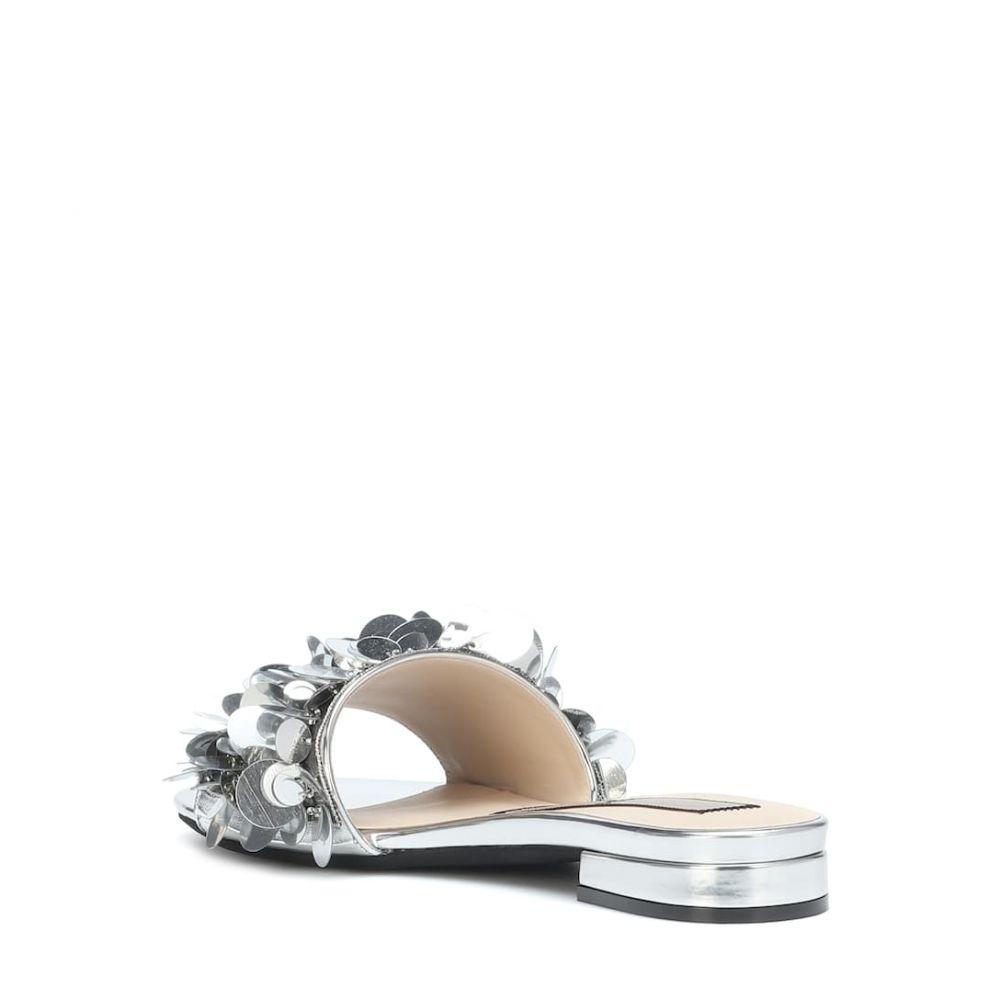 エヌ21 N?21 レディース シューズ・靴 サンダル・ミュール【Embellished leather sandals】Silver