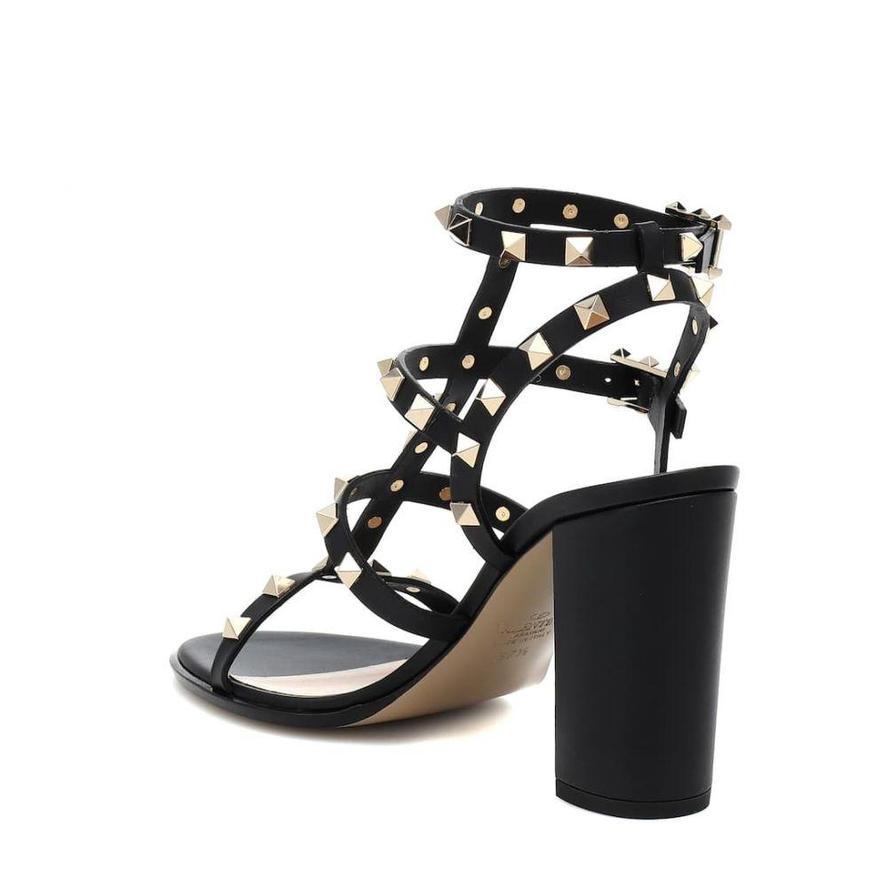 ヴァレンティノ Valentino レディース シューズ・靴 サンダル・ミュール【Garavani Rockstud leather sandals】Nero