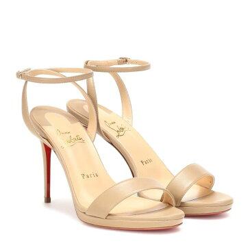 クリスチャン ルブタン Christian Louboutin レディース シューズ・靴 サンダル・ミュール【Loubi Queen 100 leather sandals】nude