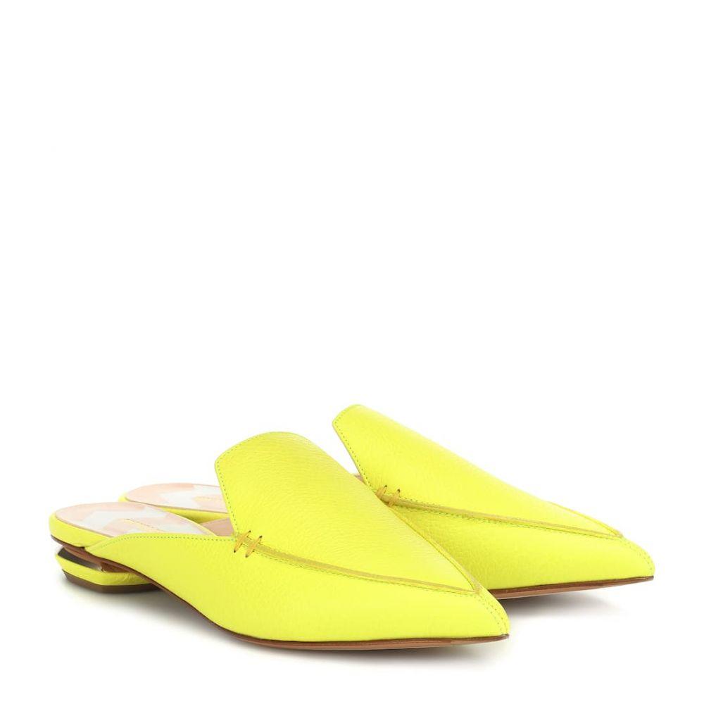 ニコラス カークウッド Nicholas Kirkwood レディース シューズ・靴 サンダル・ミュール【Beya leather mules】fluo yellow