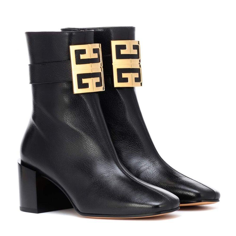 ジバンシー Givenchy レディース シューズ・靴 ブーツ【4G leather ankle boots】Black