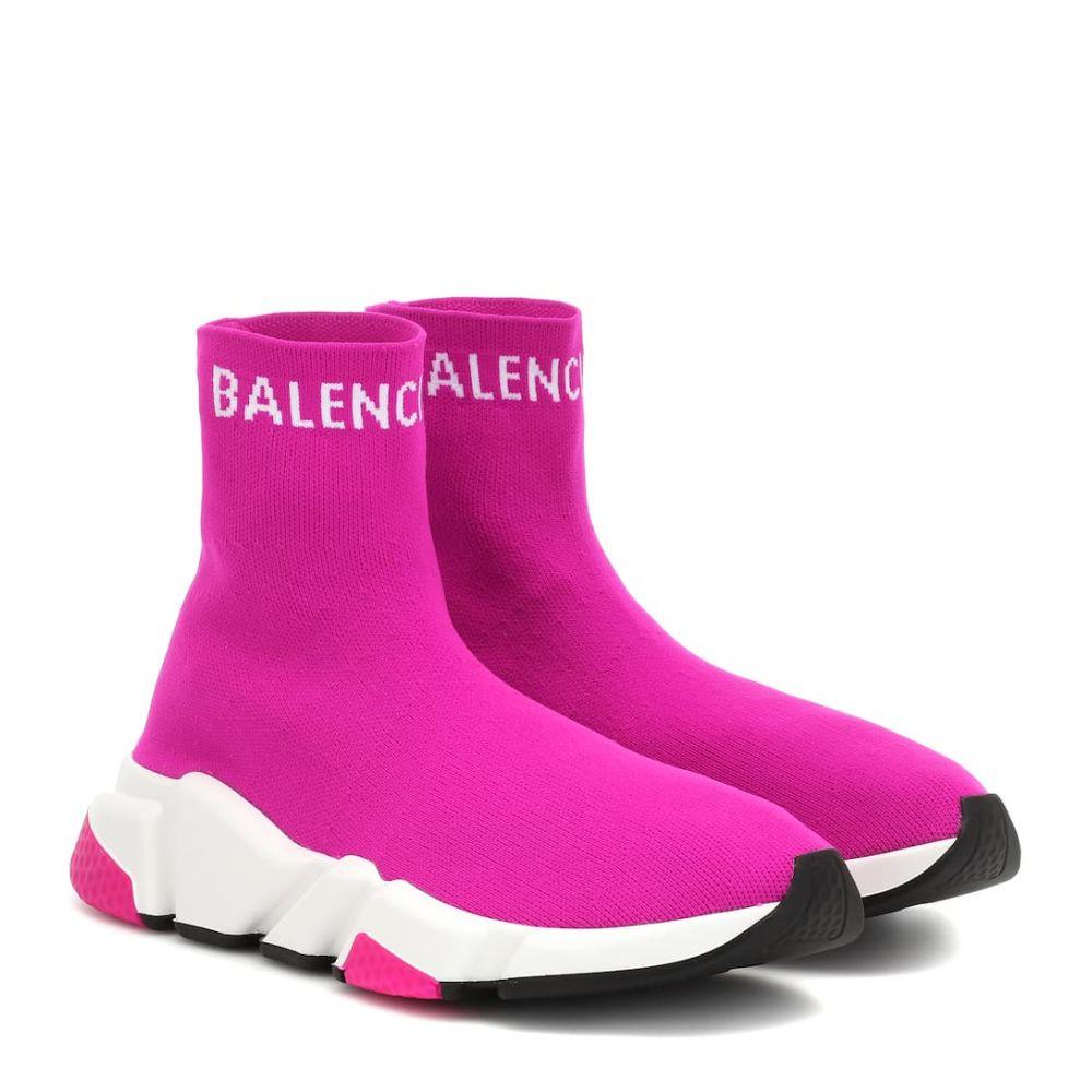 レディース靴, スリッポン  Balenciaga Speed sneakersFuchsia White
