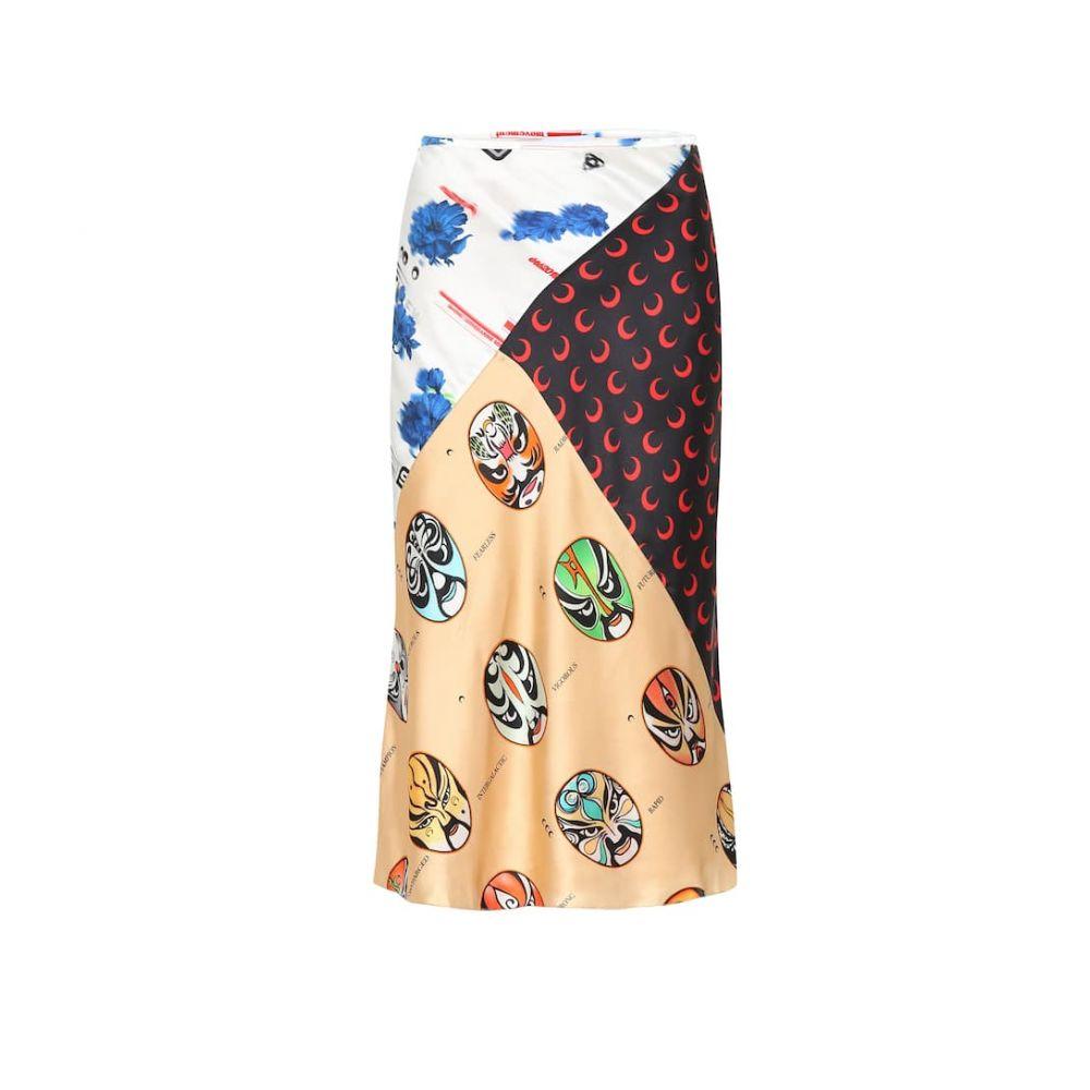 マリーン セル Marine Serre レディース スカート ひざ丈スカート【Printed silk skirt】multicolor