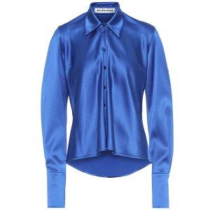 Balenciaga 여성 탑 블라우스 / 셔츠 [새틴 블라우스] 로얄 블루