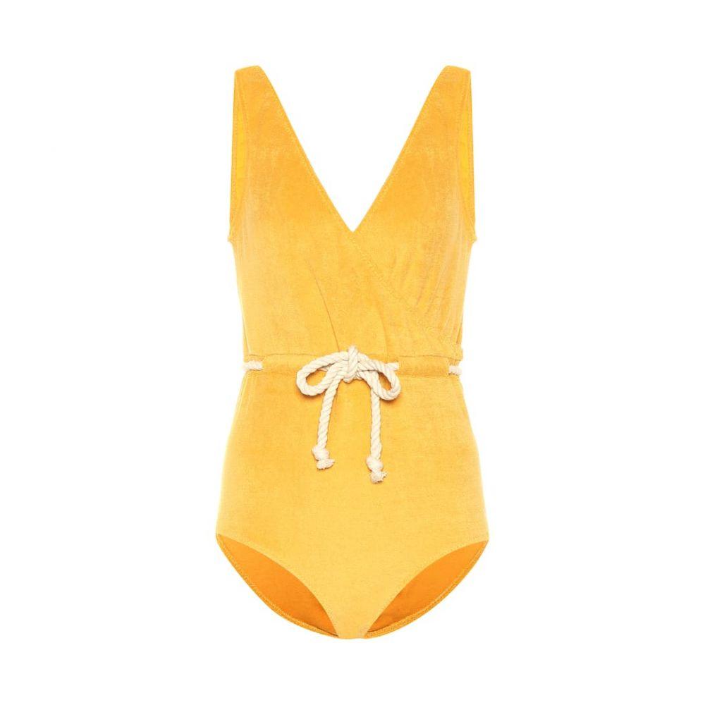 リサ マリー フェルナンデス Lisa Marie Fernandez レディース 水着・ビーチウェア ワンピース【Yasmin terrycloth swimsuit】saffron