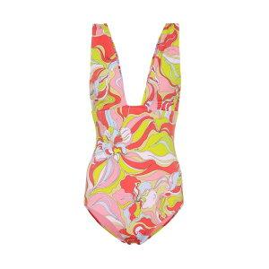 Emilio Pucci Beach Ladies Swimwear/Beachwear Dress [Printed swimsuit] Rosa/Lime