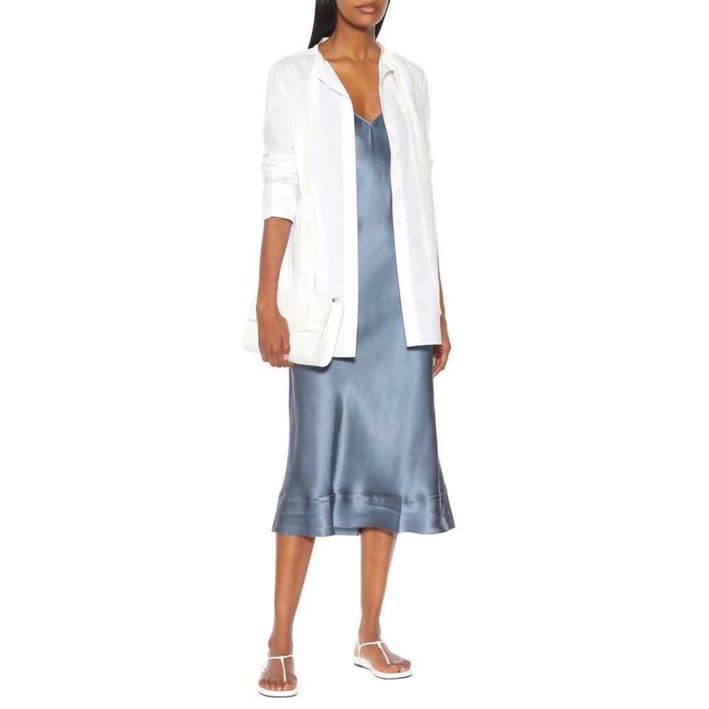 リーマシューズ Lee Mathews レディース ワンピース・ドレス ワンピース【Rose silk-satin slip dress】Persian Blue