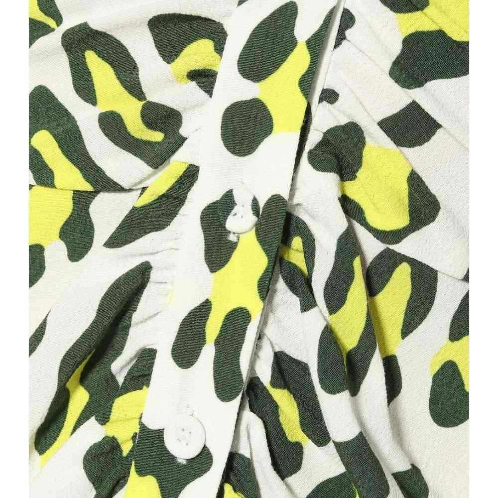 ダイアン フォン ファステンバーグ Diane von Furstenberg レディース ワンピース・ドレス ワンピース【Cecilia leopard-print midi dress】Summer Leopard Sulfur