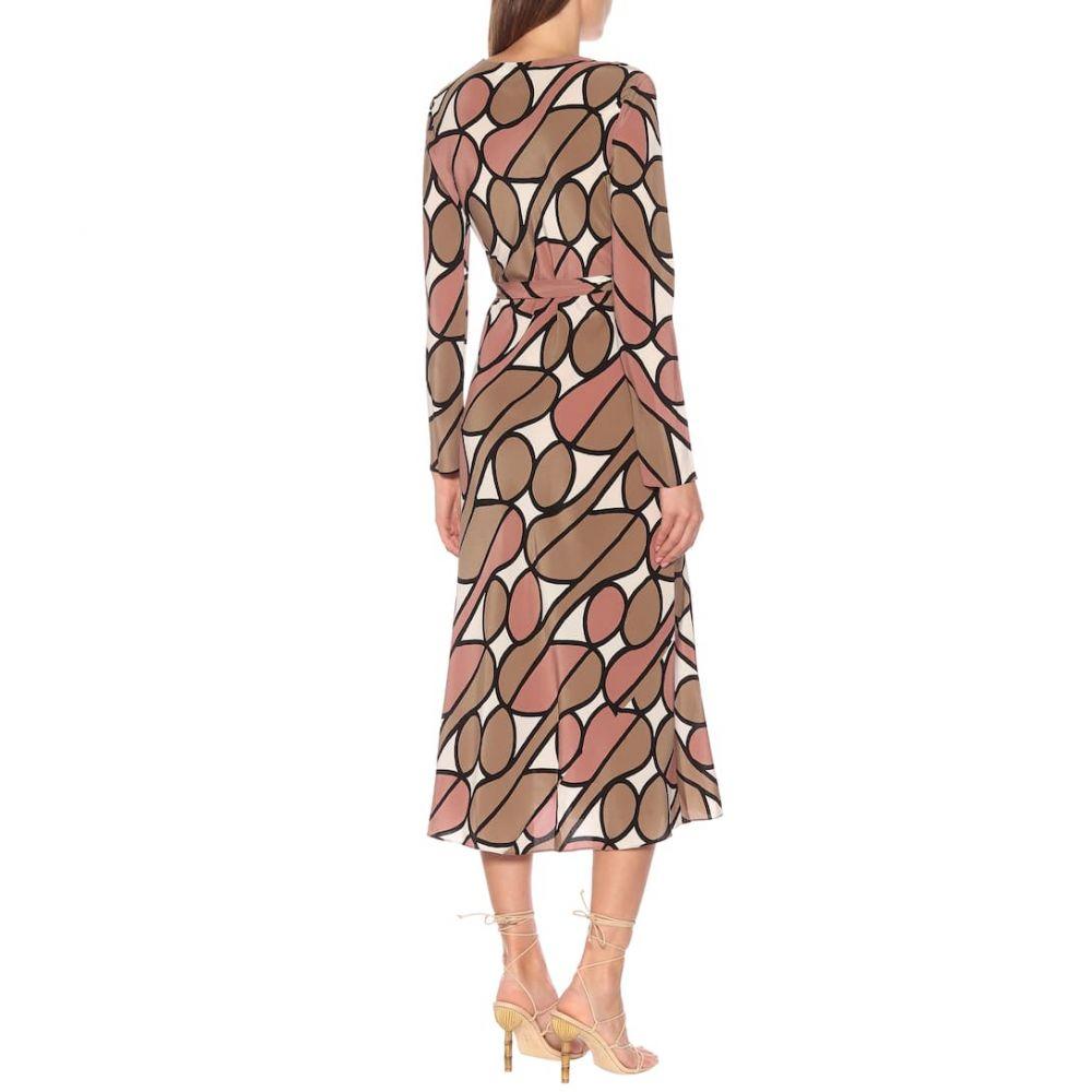ダイアン フォン ファステンバーグ Diane von Furstenberg レディース ワンピース・ドレス ワンピース【Tilly printed silk midi wrap dress】Parang Burlwood
