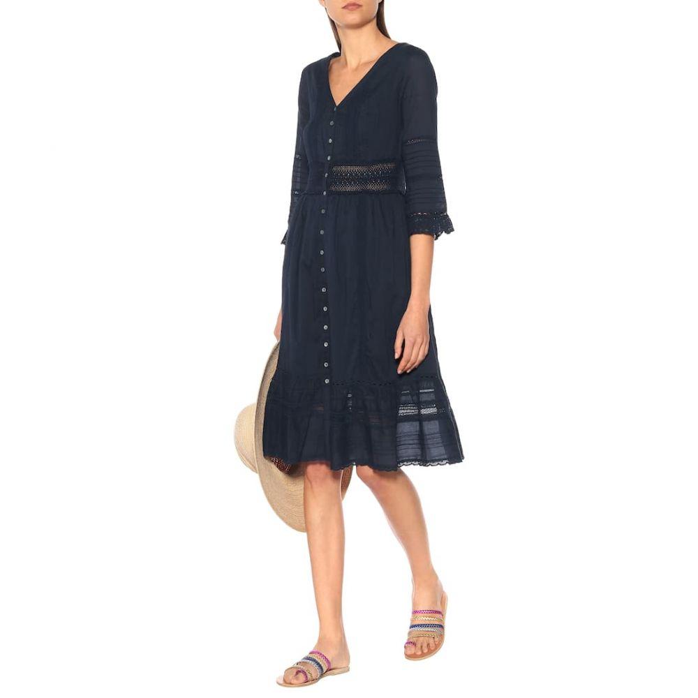 ベルベット グラハム&スペンサー Velvet レディース ワンピース・ドレス ワンピース【Angi cotton midi dress】Navy