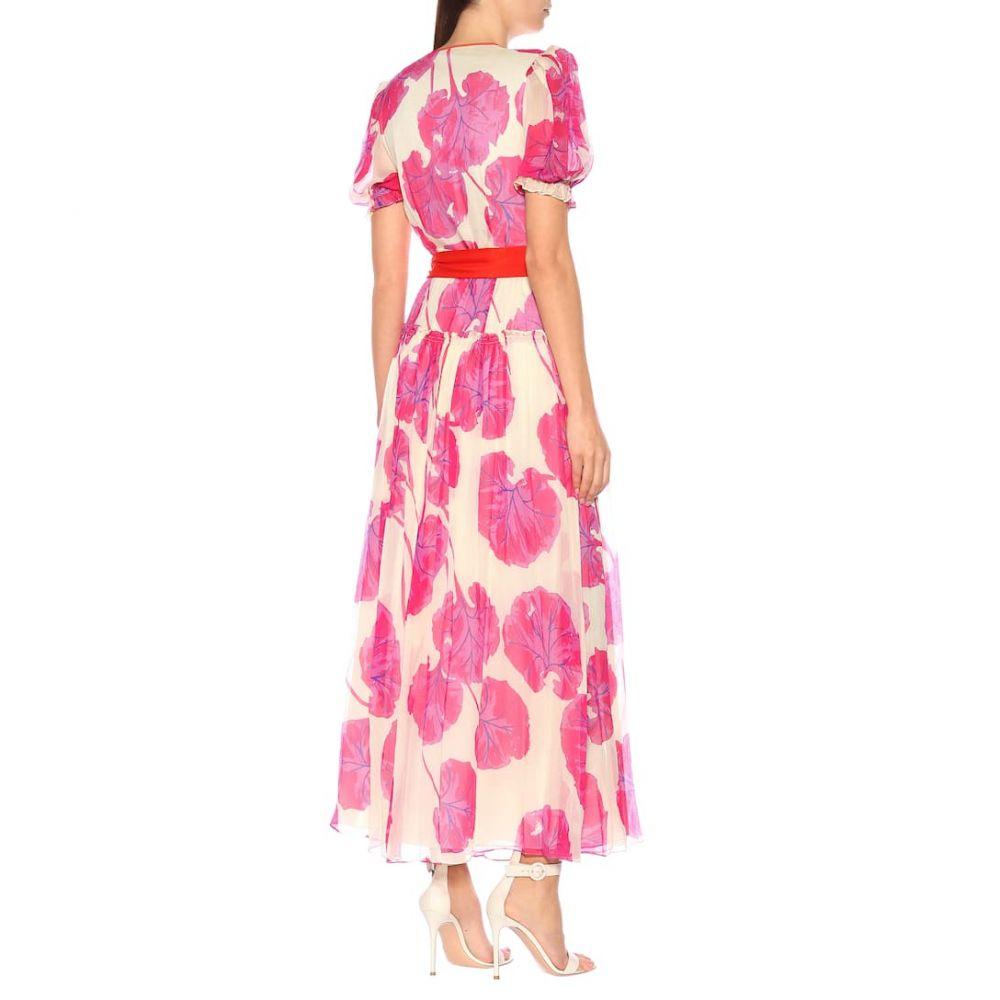 ダイアン フォン ファステンバーグ Diane von Furstenberg レディース ワンピース・ドレス ワンピース【Breeze printed silk chiffon maxi dress】Kimono Leaf Almond Multi