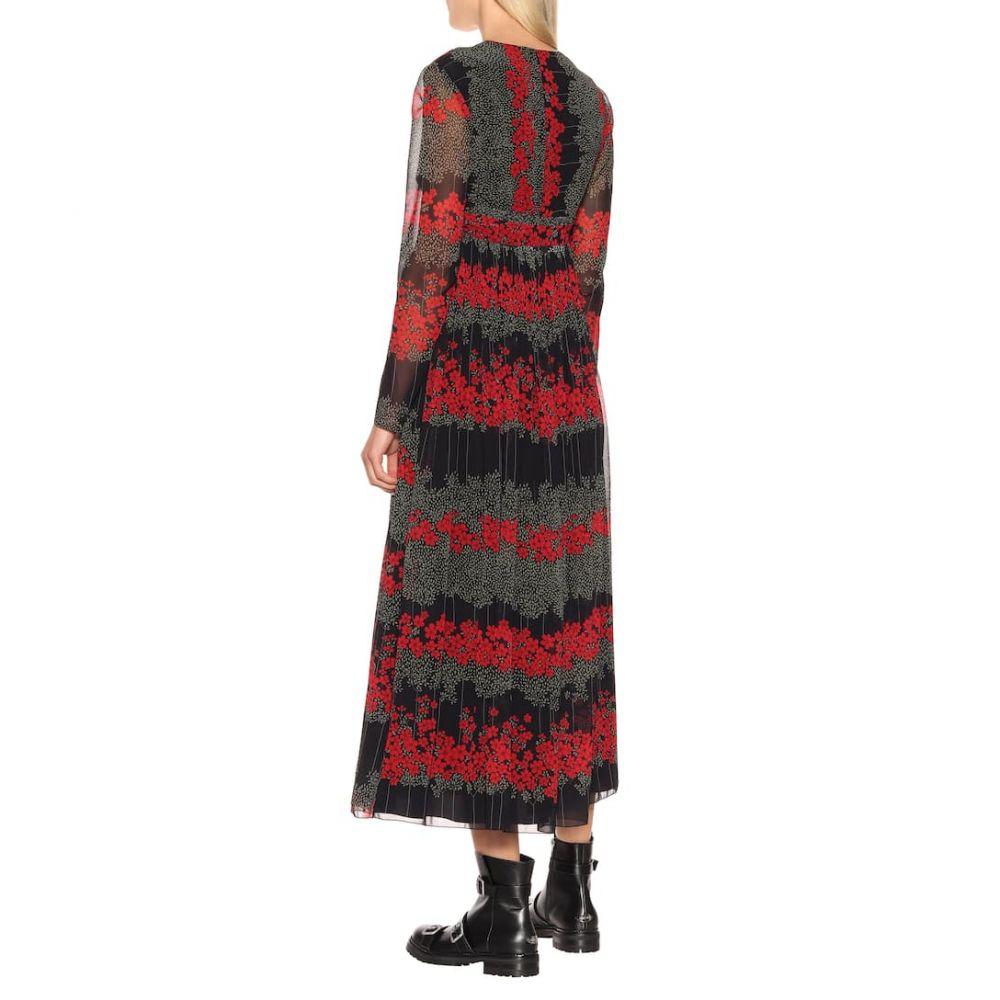 レッド ヴァレンティノ REDValentino レディース ワンピース・ドレス ワンピース【Pleated floral midi dress】Nero