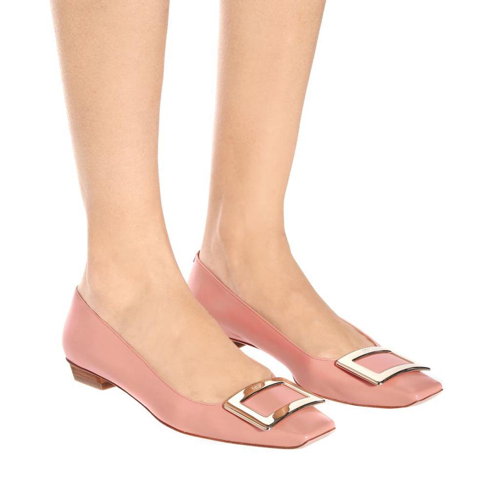 ロジェ ヴィヴィエ Roger Vivier レディース シューズ・靴 スリッポン・フラット【Belle Vivier patent leather ballet flats】Rosa Fusion