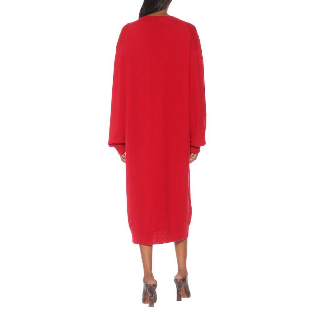 ハイダー アッカーマン Haider Ackermann レディース ワンピース・ドレス ワンピース【Wool and cashmere midi dress】Invidia Red