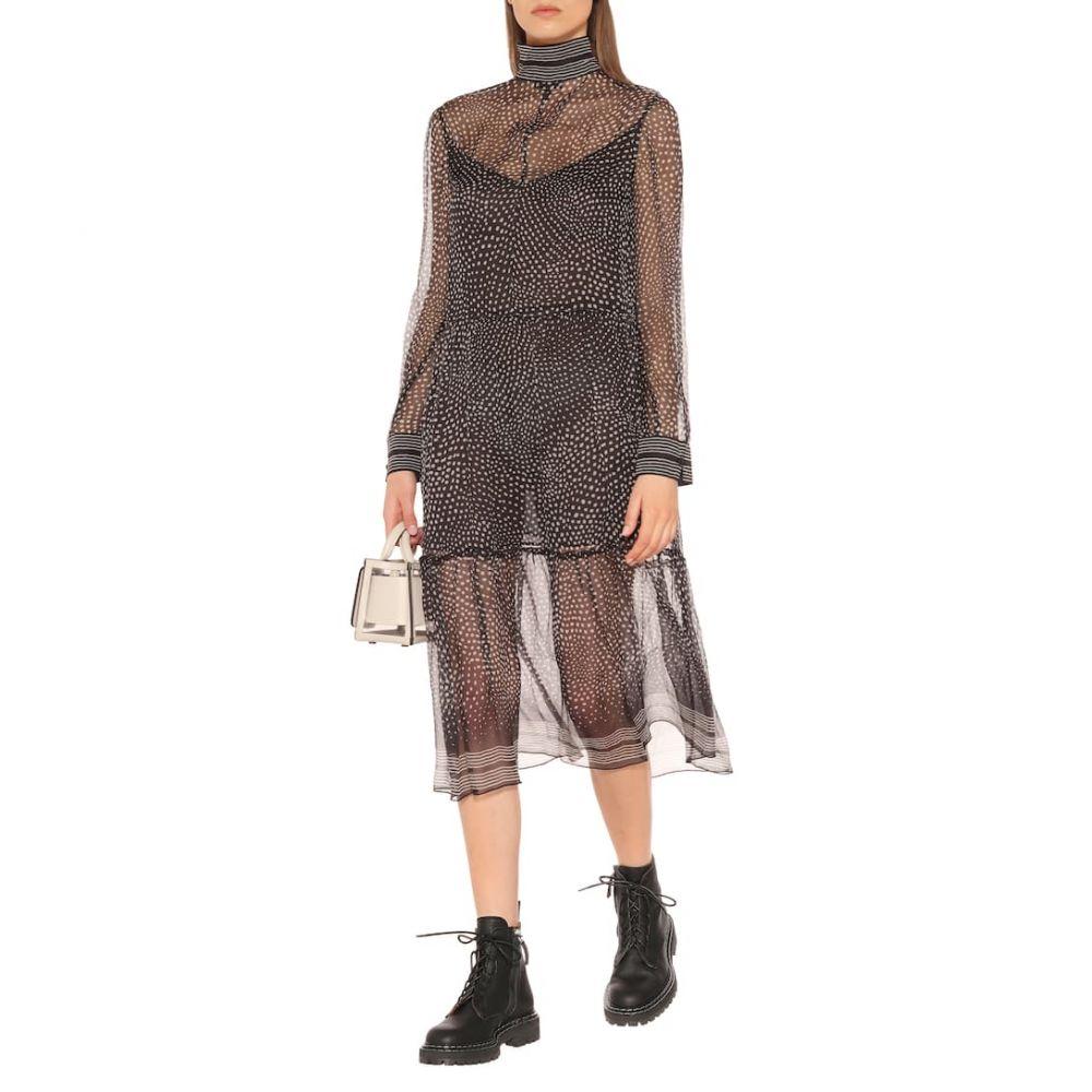ラグ&ボーン Rag & Bone レディース ワンピース・ドレス ワンピース【Libby dotted silk-chiffon midi dress】blkmult