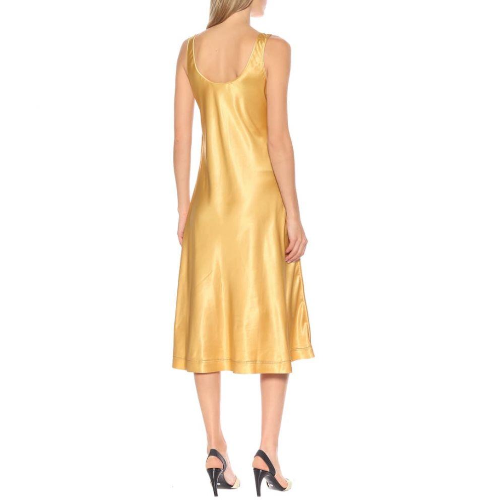 アクネ ストゥディオズ Acne Studios レディース ワンピース・ドレス ワンピース【Satin midi dress】Yellow Gold