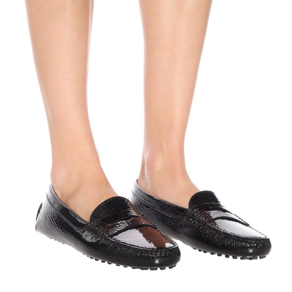 トッズ Tod's レディース シューズ・靴 ローファー・オックスフォード【Gommino patent leather loafers】Nero