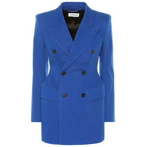 Balenciaga Women's Outer Suit/Jacket [Hourglass stretch-cotton blazer] Royal Blue