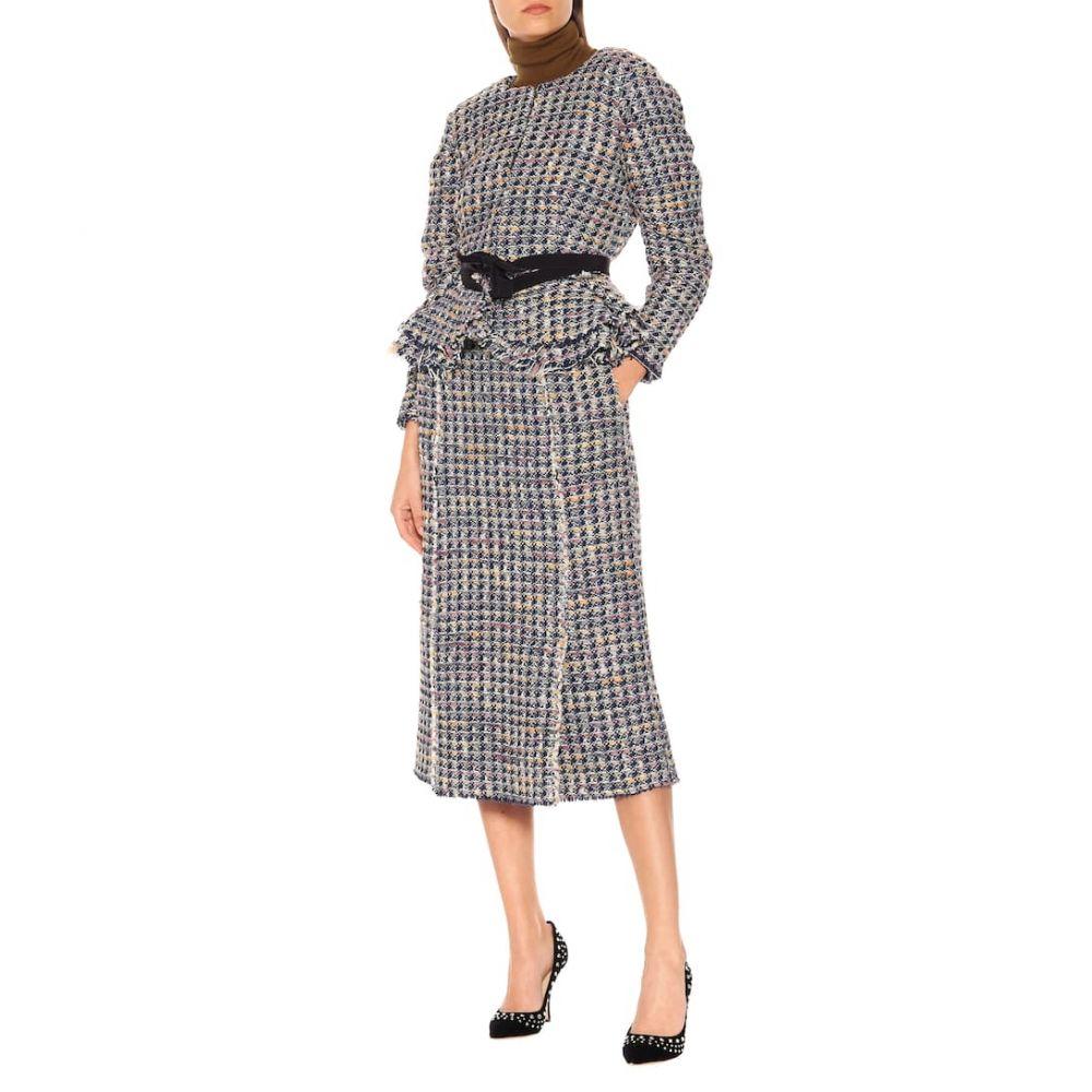 ブロック コレクション Brock Collection レディース アウター スーツ・ジャケット【Panicucci wool-blend jacket】Blue
