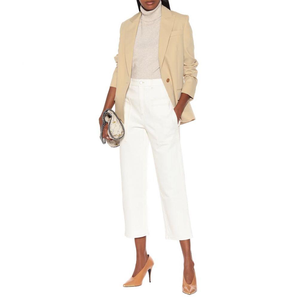 ステラ マッカートニー Stella McCartney レディース ボトムス・パンツ ジーンズ・デニム【High-rise straight-leg jeans】White
